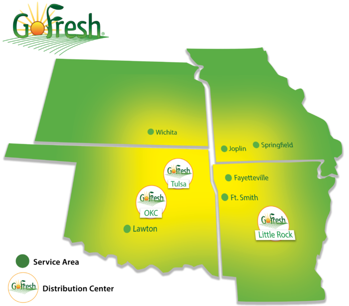 GoFresh Distribution Area Map