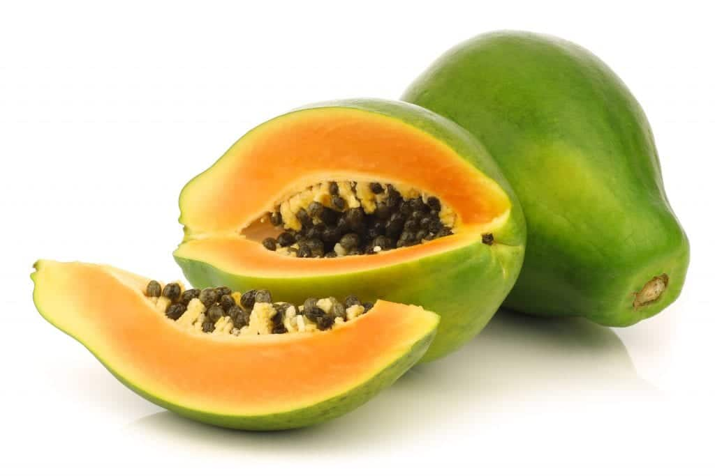 how to open a papaya