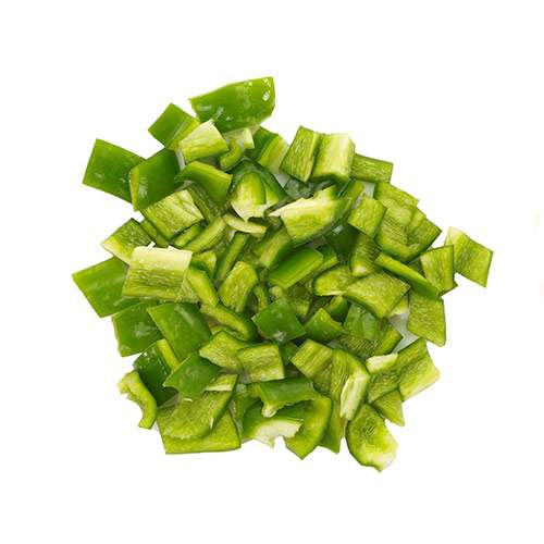 Diced Green Bell Peppers