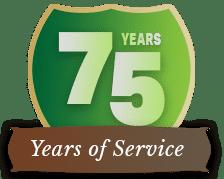 GoFresh 75 Years of Service badge