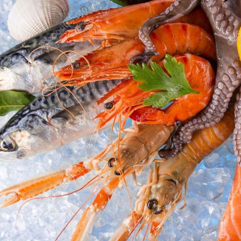 Fresh seafoods